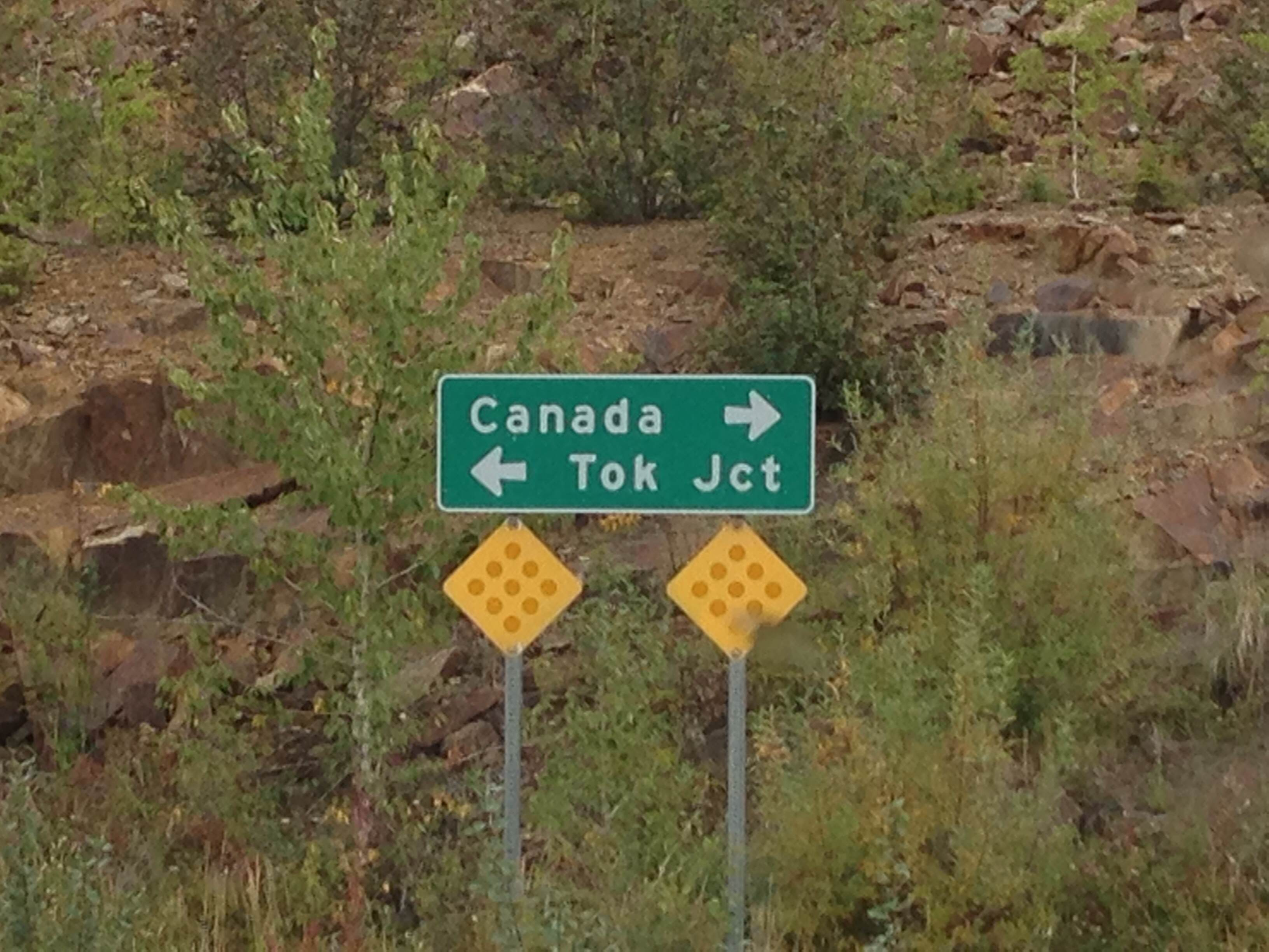 """This made me laugh. """"All of Canada - that way! Just Tok Junction - that way!"""""""