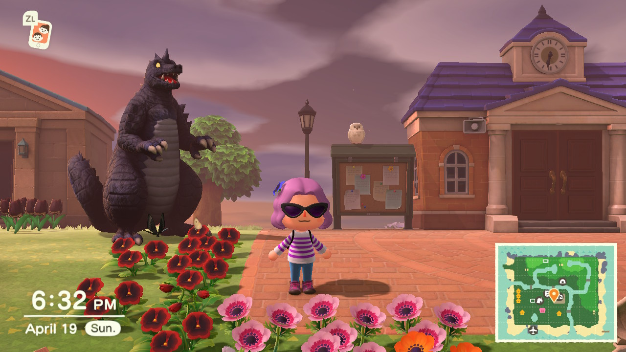 a screen capture from the game animal crossing